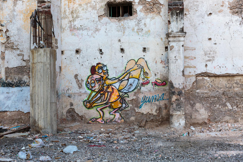 Street art in La Habana stock photography