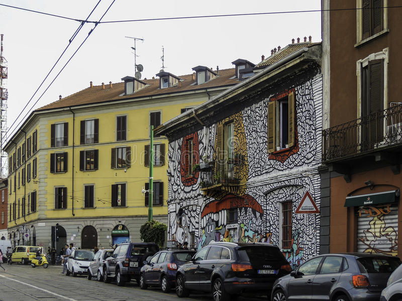 Street art in Milan stock photo