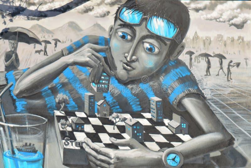Street art Montreal royalty free stock photo