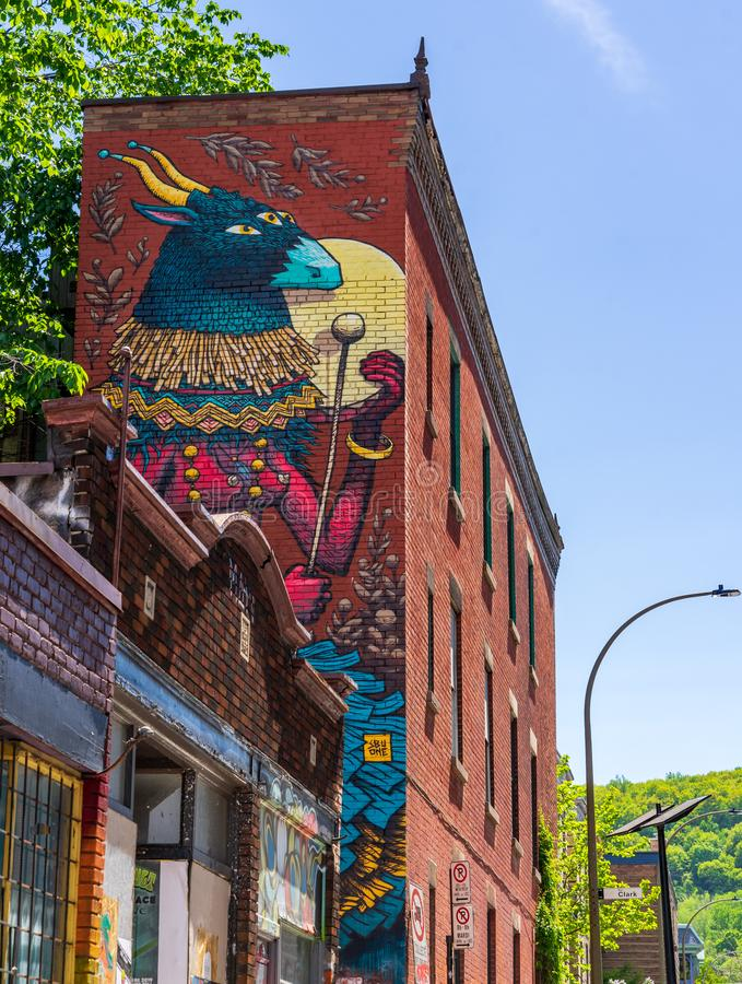 Street art MURAL festival  at Montreal royalty free stock images
