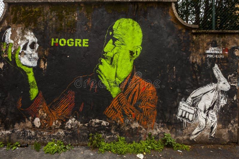Download Spanish's Artist Hogre  Murale In Rome Editorial Photography - Image of graffiti, artoutside: 30126892