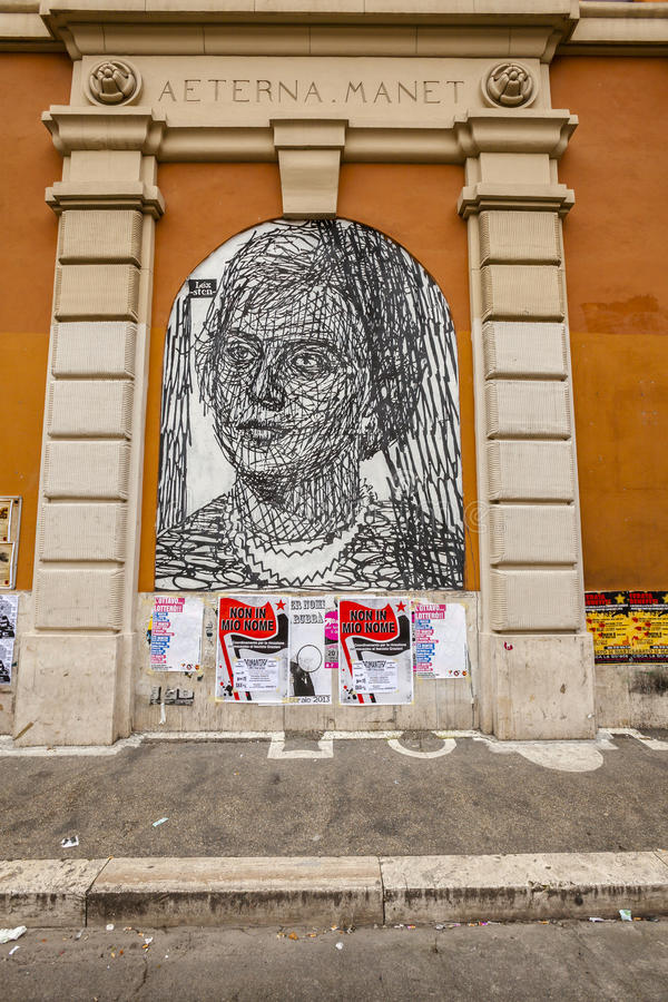 Download Murale in rome editorial image. Image of looking, hope - 30127625