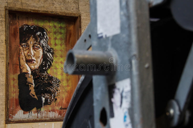 Street Art in Rome royalty free stock images