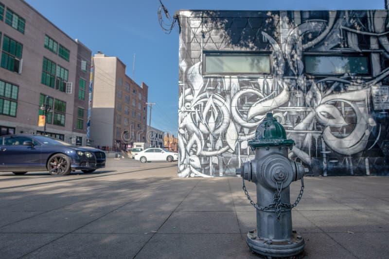 Street art in Sacramento, California stock image