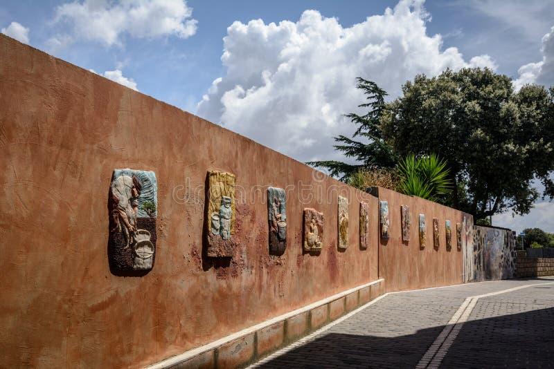 Street art of Tinnura, Sardinia royalty free stock photo