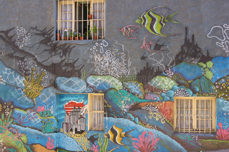 Download Street Art of Valparaiso editorial stock image. Image of city - 41458364
