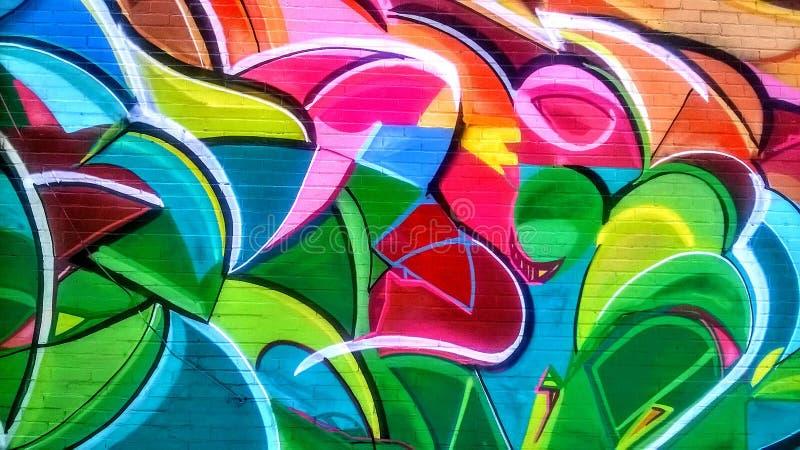 Street art on a wall stock photos