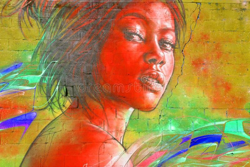 Street art woman royalty free stock photography