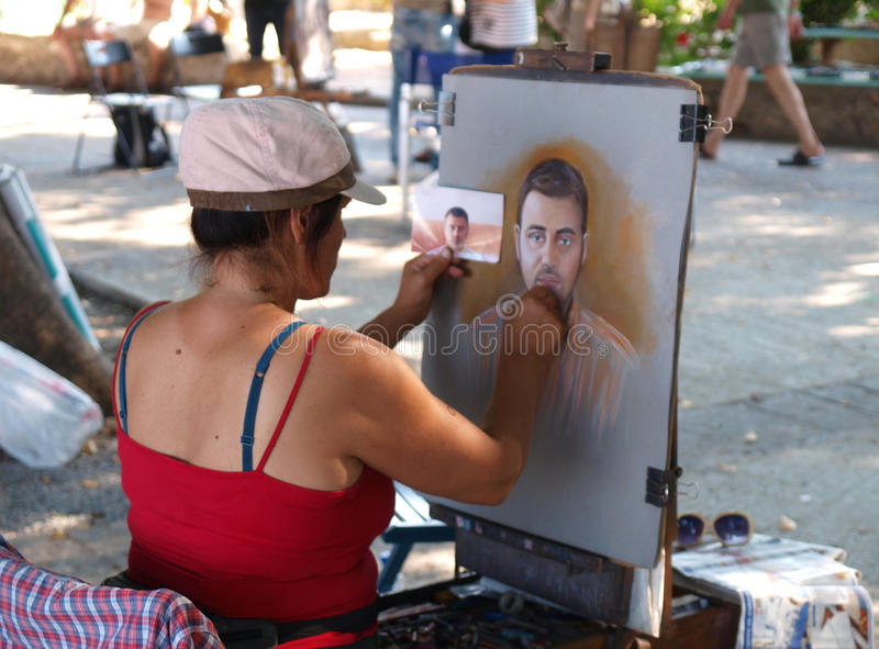 Street artist royalty free stock photo