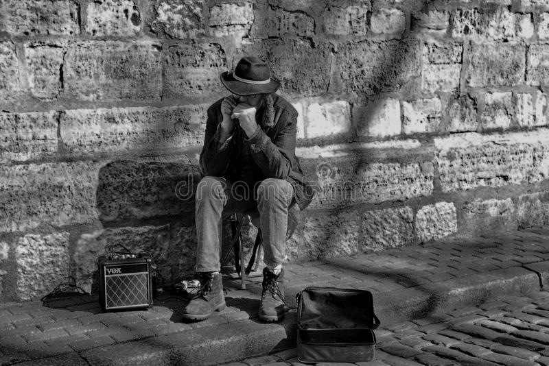 Street artist. In Latvia royalty free stock images