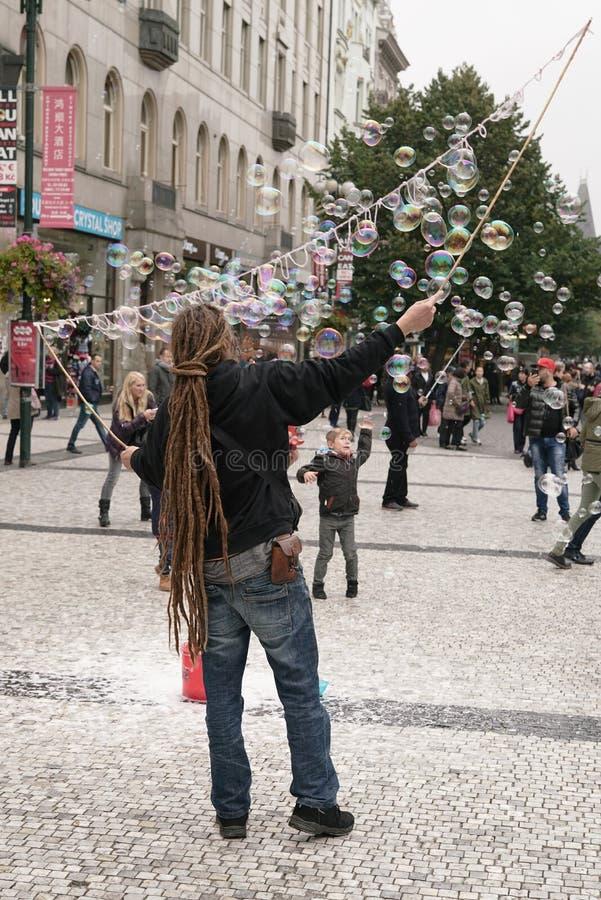 Street artist stock photo