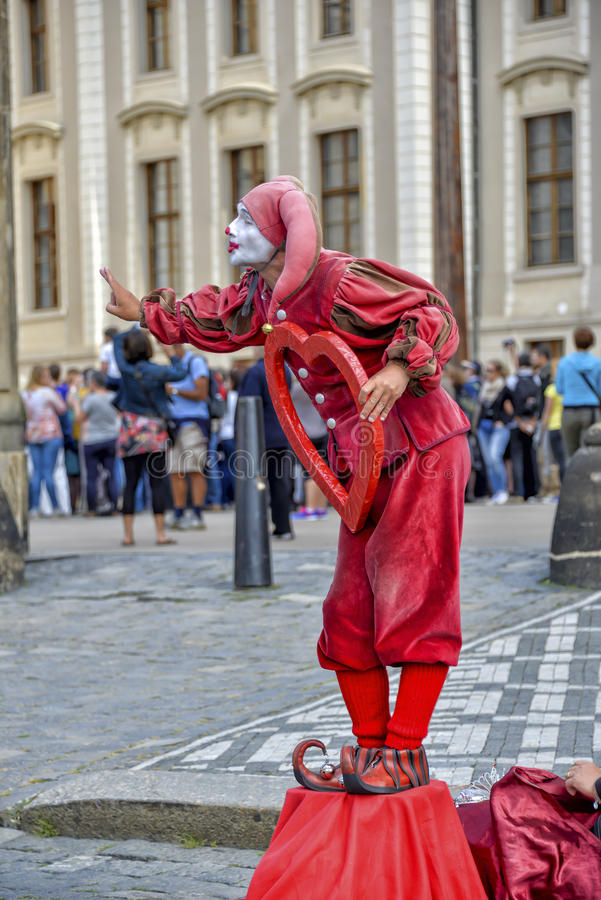 Street busker in Prague royalty free stock photos
