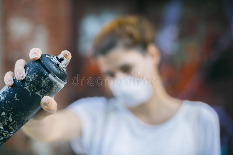 Street artist at work royalty free stock photography