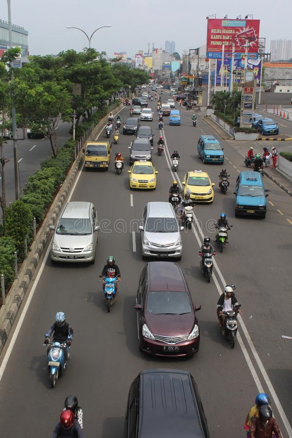Street atmosphere margonda depok jawabarat royalty free stock photography