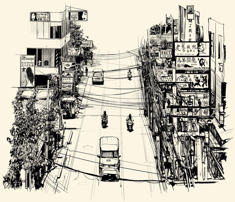 Download Street in Bangkok stock vector. Illustration of gogo - 32483663