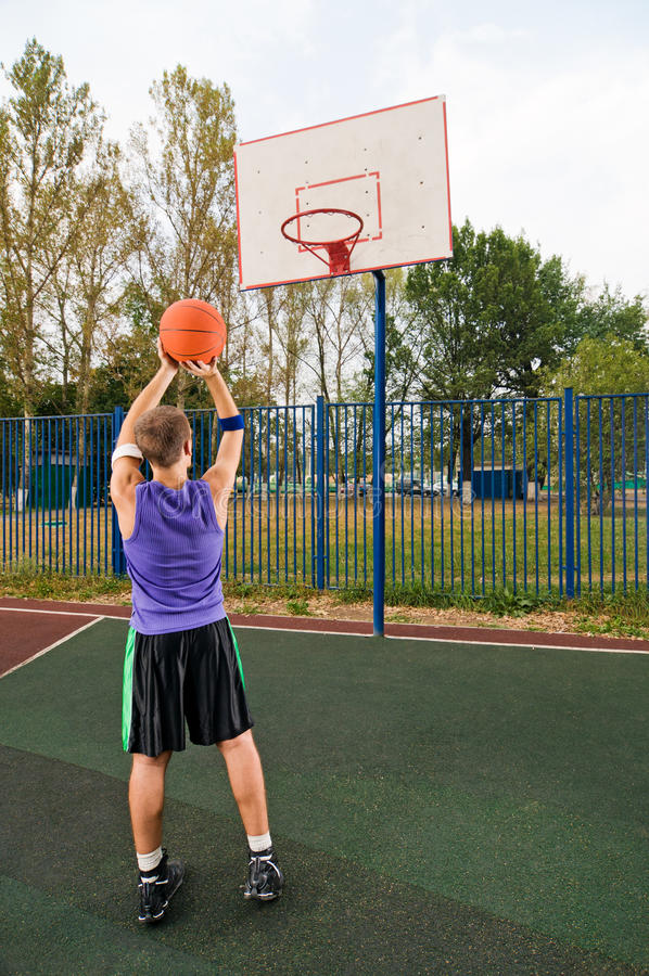 Download Street basketball stock photo. Image of exercising, cityscape - 15575920