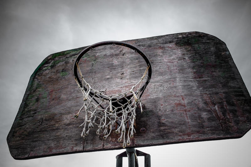 street basketball hoop and board stock photography