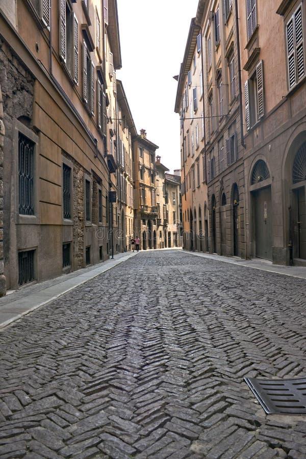 Street in Bergamo. Old street in Bergamo, Italy royalty free stock images