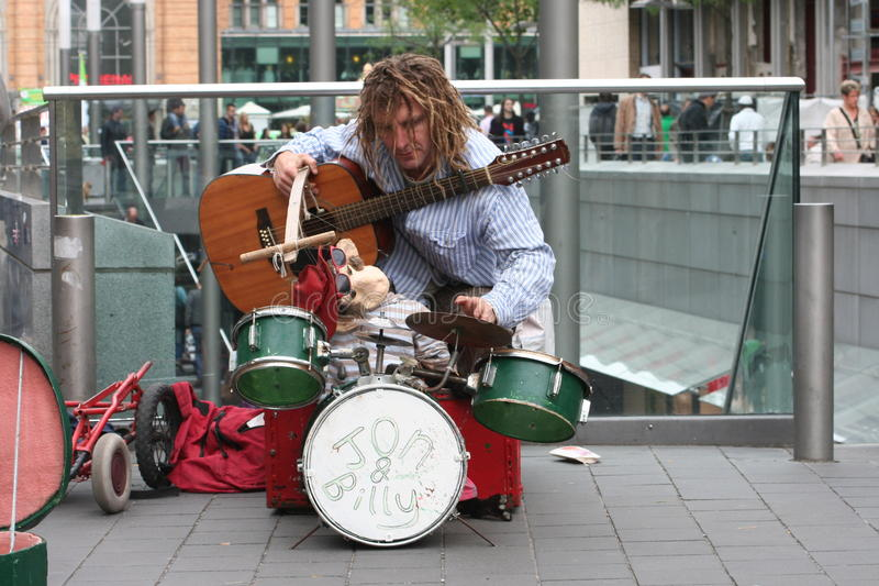 Download Street busker editorial stock photo. Image of streets - 20439413