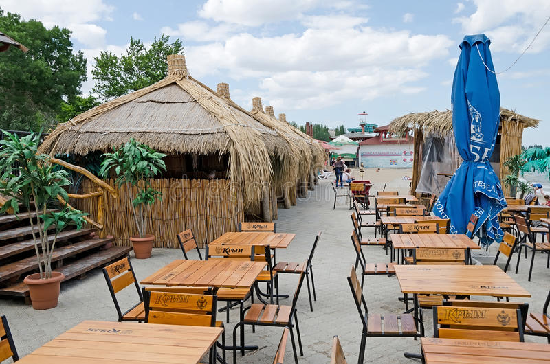 Download Street Cafe On The Waterfront In Feodosia Editorial Image - Image: 41945860