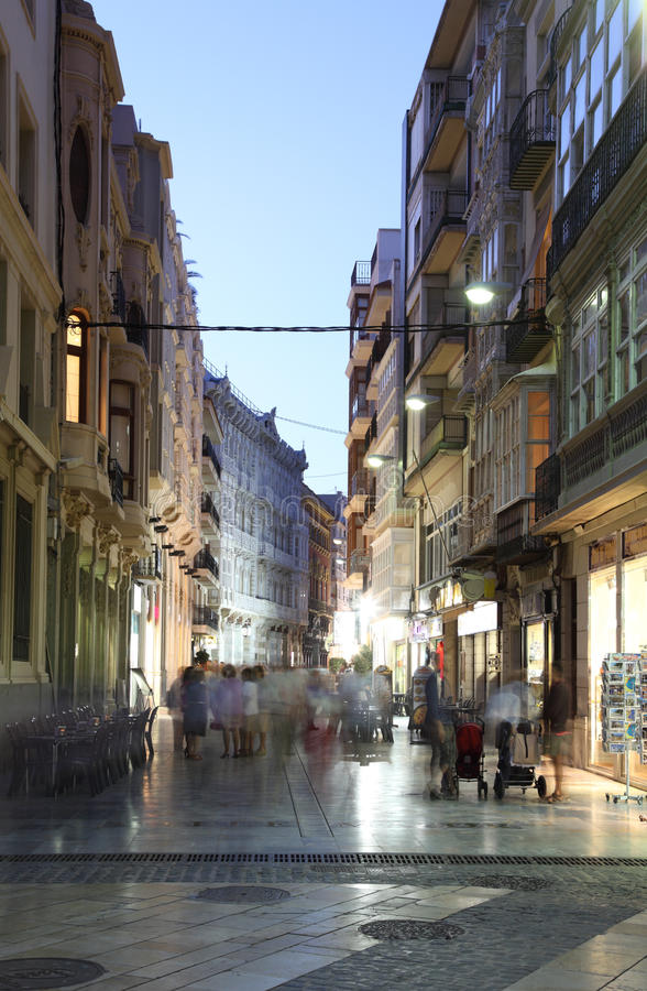 Download Street in Cartagena, Spain editorial stock photo. Image of street - 27161208