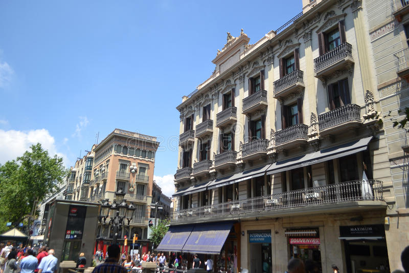Street in center of Barcelona