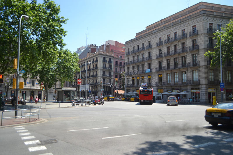 Download Street In Center Of Barcelona Editorial Photo - Image: 34580981