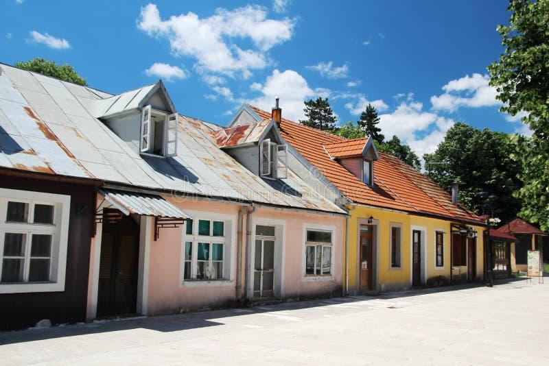 A street in Cetinje, Montenegro stock photography