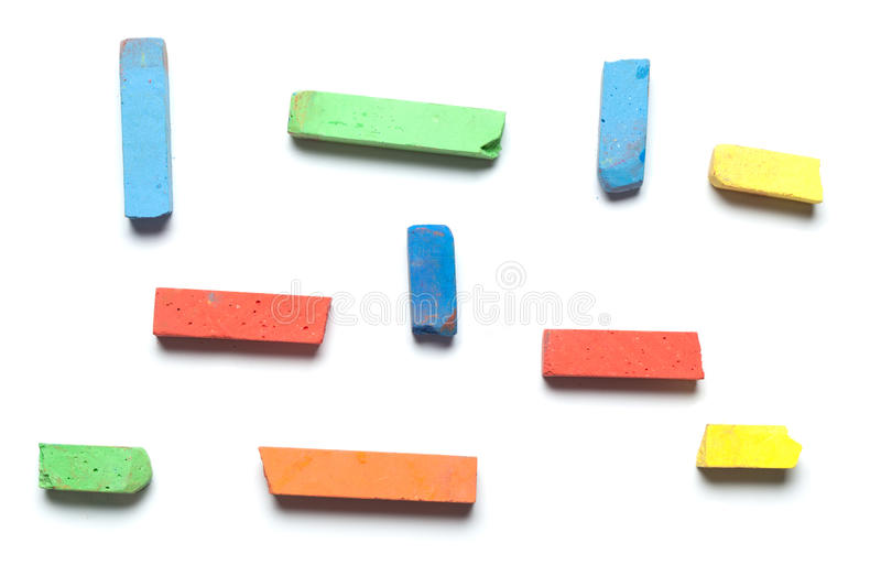 Download Street Chalk For Kids,  On White Stock Image - Image: 33865623