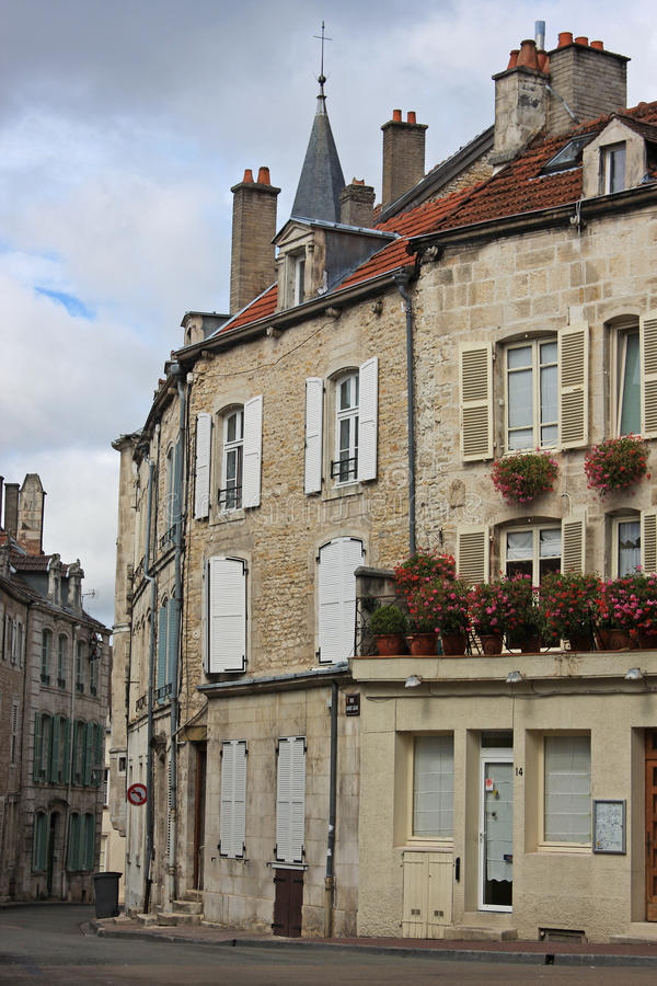 Street in Chaumont. Old town of Chaumont, France royalty free stock photography