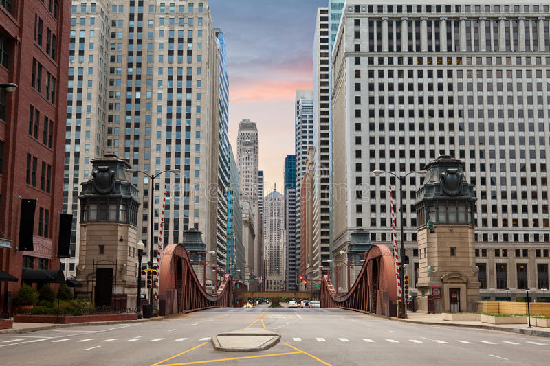 Download Street of Chicago. stock photo. Image of city, tower - 23954908