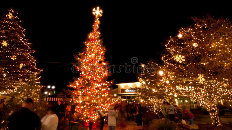Download Street at Christmas editorial stock photo. Image of party - 42048923