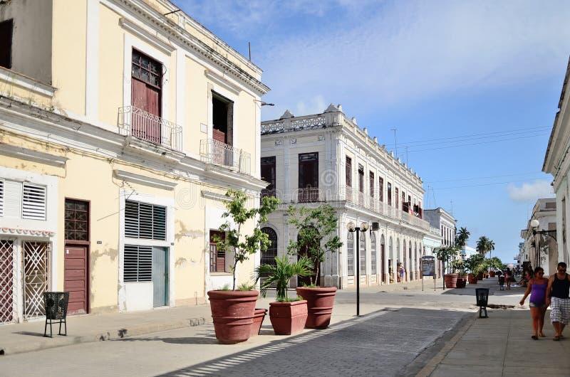 Street in Cienfuegos, Cuba. stock images