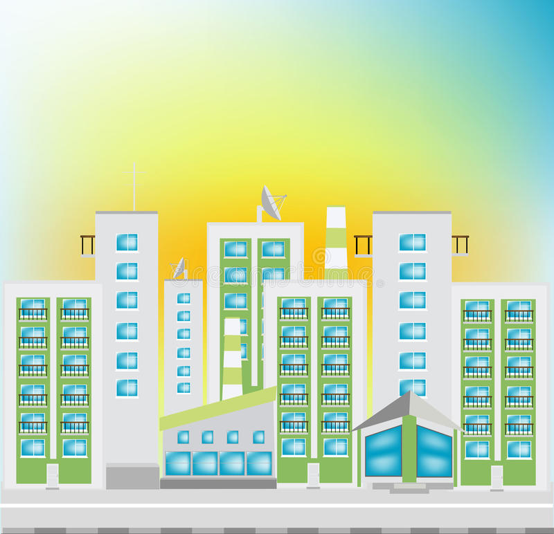 Download Street of the city stock vector. Image of antenna, street - 17382842