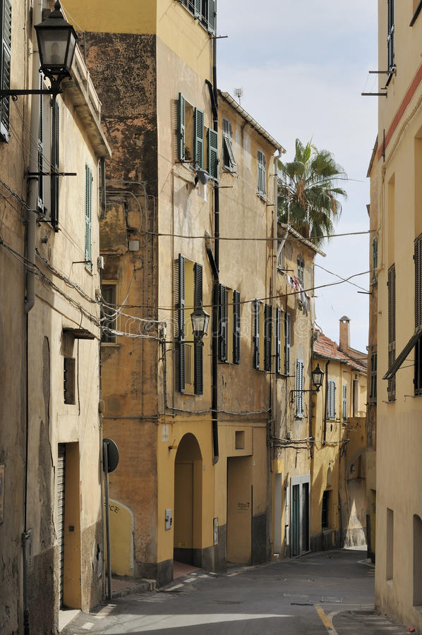 Download Street In City Center, Imperia Stock Image - Image: 21857835