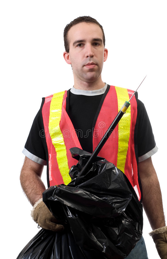 Download Street Cleaner stock photo. Image of isolated, orange - 8063330