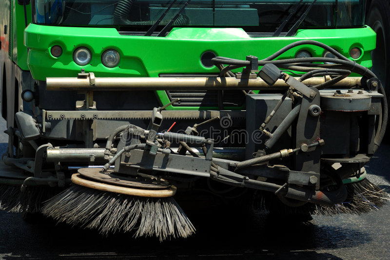 Download Street cleaning machine stock image. Image of close, machine - 5634719