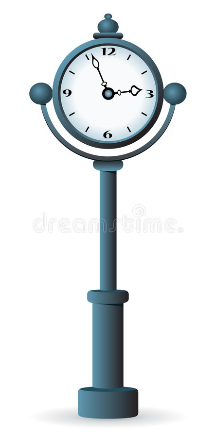 Download Street clock. stock vector. Image of organizer, painting - 18645980