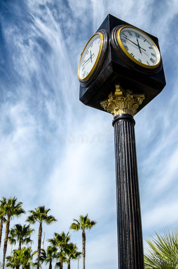 Download Street clock stock photo. Image of glass, classic, metal - 24164122