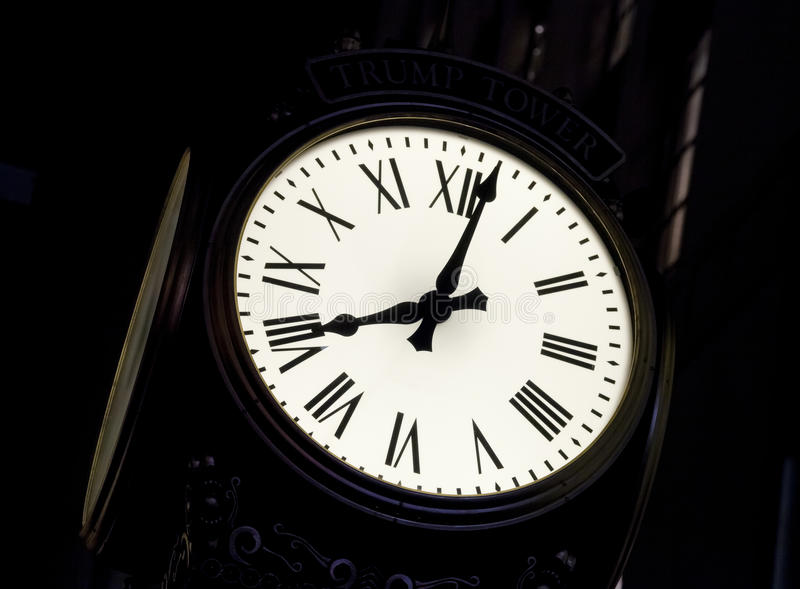 The Street Clock Stock Photography