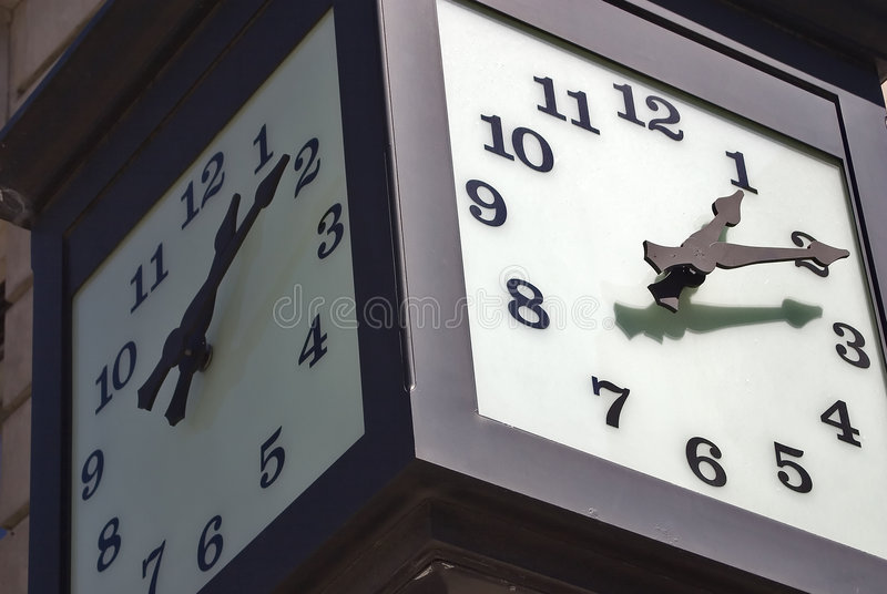 Street clock royalty free stock photography
