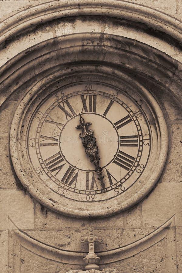 Street clock in croatian town Dubrovnik royalty free stock image