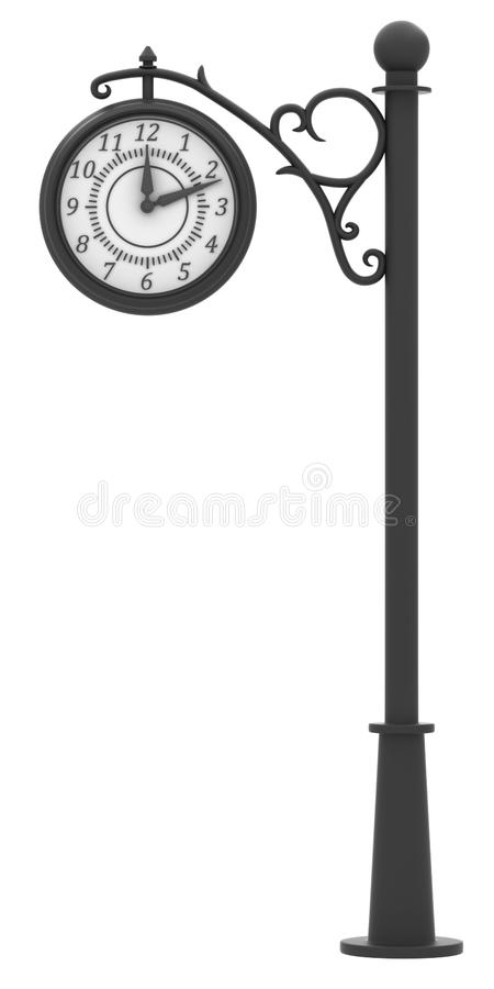 Street Clock In The Old Style Stock Photo