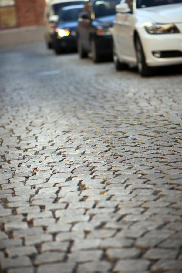 Download Street with cobblestones stock image. Image of urban - 17758843