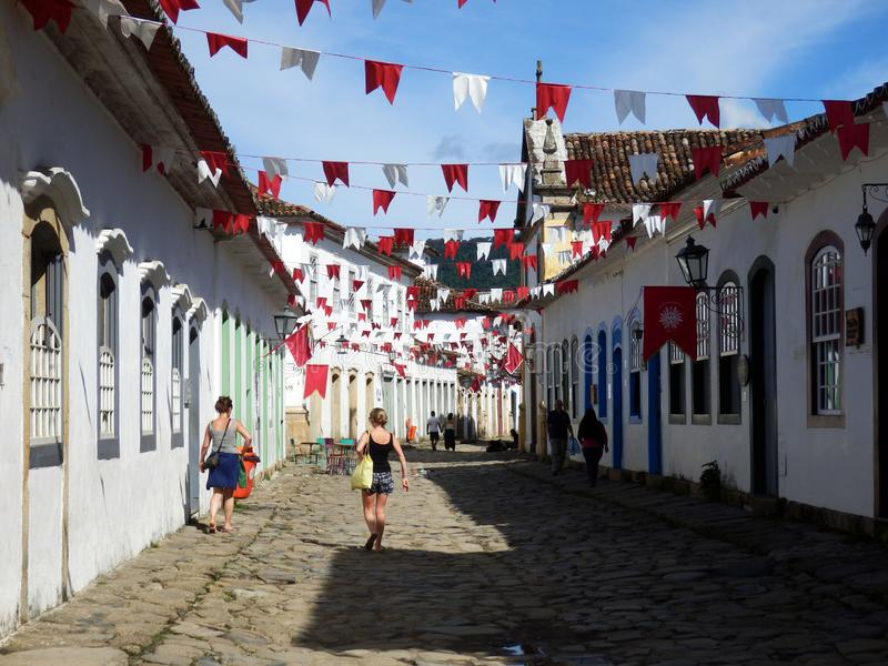 Old colonial town of Paraty in Rio de Janeiro State royalty free stock photos