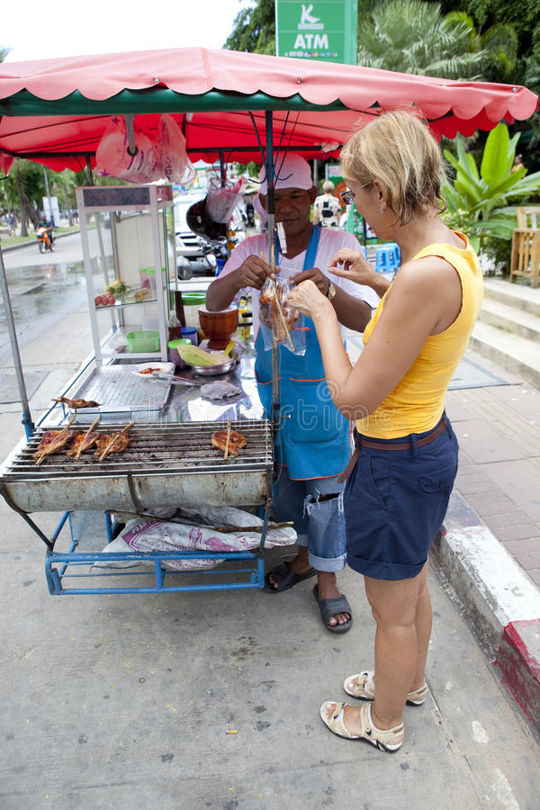 Street cooking royalty free stock image