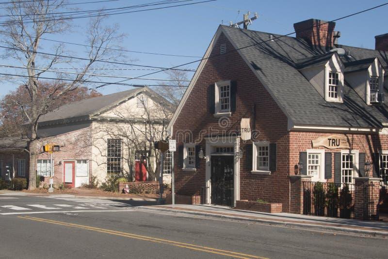 Street Corner in Chapel Hill, North Carolina royalty free stock photos