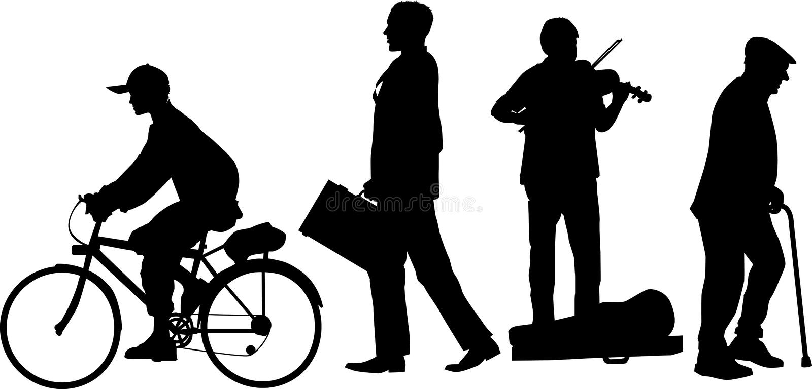 Download Street_corner_group_02 stock illustration. Image of silhouette - 1056192