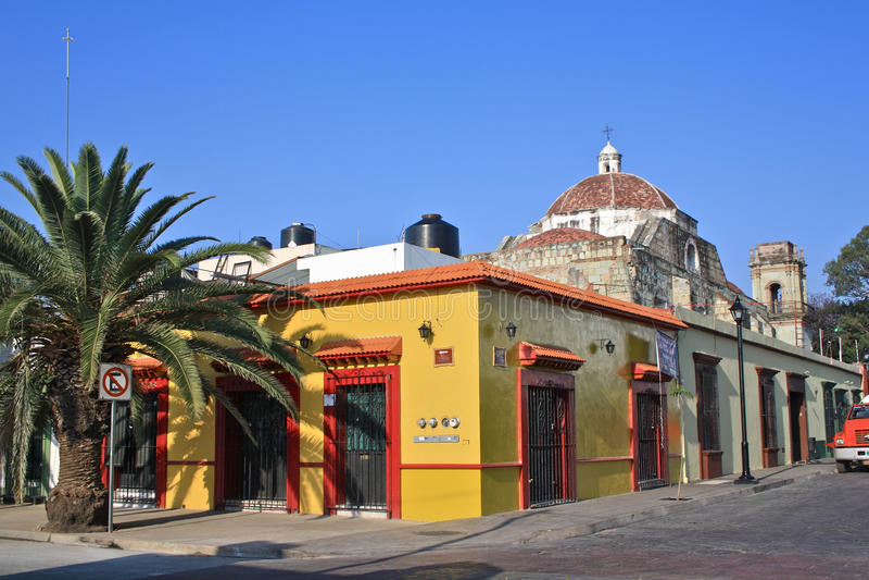 Street Corner Oaxaca, Mexico royalty free stock photos