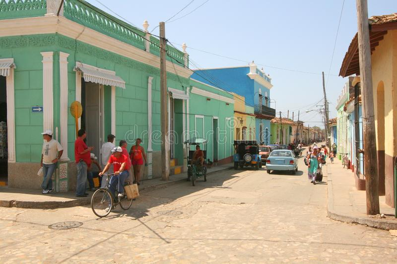 A street corner in Cuban town royalty free stock photos